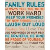 Pro Tour Memorabilia Family Rules Textual Art on Canvas in Blue and Orange