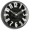 "<strong>Opal Luxury Time Products</strong> 12.8"" Raised Figures Dome Glass Wall Clock"