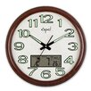 <strong>Opal Luxury Time Products</strong> 17.6'' Round Analog Digital Wall Clock