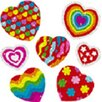 Frank Schaffer Publications/Carson Dellosa Publications Dazzle Stickers Hearts 105-pk Acid