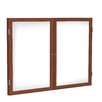 Ghent 2 Door Wood Frame Enclosed Porcelain Magnetic Whiteboard