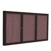Ghent 3 Door Aluminum Frame Enclosed Fabric Bulletin Board