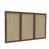 Ghent 3 Door Wood Frame Enclosed Fabric Bulletin Board
