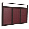 Ghent 3 Door Outdoor Aluminum Headliner Vinyl Bulletin Board