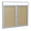 Ghent 2 Door Outdoor Illuminated Headliner Cork Bulletin Board