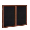 Ghent 2 Door Solid Wood Enclosed Rubber Bulletin Board