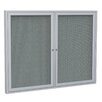 Ghent 2 Door Aluminum Frame Enclosed Fabric Bulletin Board