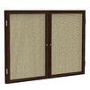 Ghent 2 Door Wood Frame Enclosed Fabric Bulletin Board