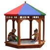 Gorilla Playsets Play-Zee-Bo 5' Hexagon Sandbox with Cover