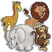 <strong>Teachers Friend</strong> Accent Punch-outs Zoo Animals 36pk