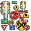 Teachers Friend Accent Punch-outs Safety Signs 36pk