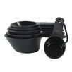 Measuring Cups in Black (Set of 6)