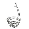 <strong>Scroll Pantryware Fruit Basket</strong> by Spectrum Diversified