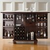 Cambridge Expandable Bar Cabinet in Vintage Mahogany
