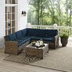Crosley Biltmore 4 Piece Deep Seating Group with Cushions