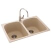 "Swanstone Metropolitan 33"" x 22"" Double Bowl Kitchen Sink"