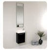 "<strong>Fresca</strong> Senza 15.5"" Pulito Small Modern Bathroom Vanity Set with Tall Mirror"