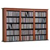 Floating Wall Mounted Triple Multimedia Storage Rack