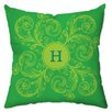 Checkerboard, Ltd Personalized Monogram Poly Cotton Outdoor Throw Pillow