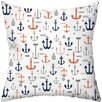 Checkerboard, Ltd Sailing Away Throw Pillow