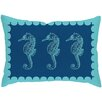 Checkerboard, Ltd Seahorses Outdoor Poly Cotton Throw Pillow