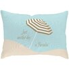 <strong>Checkerboard, Ltd</strong> Sandy Footprints for 4 Poly Cotton Outdoor Throw Pillow