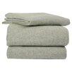 La Rochelle Heather Solid Flannel Sheet Set