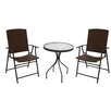 AZ Patio Heaters Patio Wicker 3 Piece Bistro Set