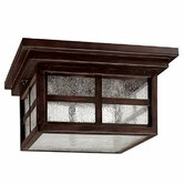 Preston Three Light Outdoor Flush Mount in Mediterranean Bronze