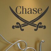 Personalized Pirate Swords Wall Decal