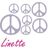 Personalized Peace Sign Wall Decal