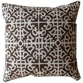 Malibu Outdoor Square Decorative Pillow in Brown