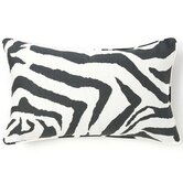 African Zebra Linen Pillow in Black / White