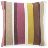 Hosta Stripes Cotton Pillow in Alabaster