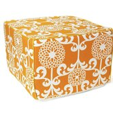 Floret Cotton Cube Ottoman