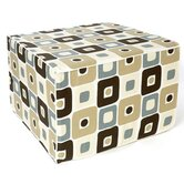 Geo Cotton Cube Ottoman