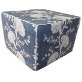 Geisha Cotton Cube Ottoman