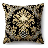 Ikat Outdoor Decorative Pillow in Ebony