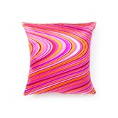 Psychedelic Square Decorative Pillow in Hot Pink