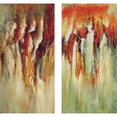 "Contemporary Rain by Unknown Contemporary Art (Set of 2) - 40"" x 20"" - 9611"