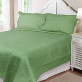 Solid Tuilp Garden Quilt Set