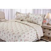 Rose Perfume Quilt Set