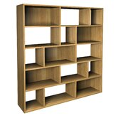 Hadlee Contemporary Oak Livingroom Large Asymmetric Bookcase