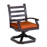 Newport Swivel Dining Arm Chair with Cushion