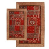 Alabama Jacquard Piece Accent Red Rug Set