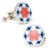 Bloom Cufflinks in Blue / Pink