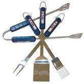 MLB 4-Piece BBQ Grill Tool Set