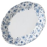 "Blue Meadows Ruffled 11"" Oval Platter"