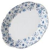 "Blue Meadows Ruffled 11"" Oval Platter"