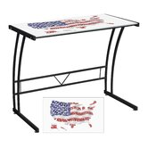 USA Flag Map Expression Sigma Writing Desk